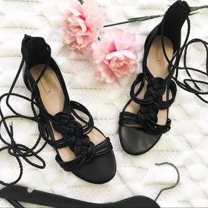 ALDO Black Twist Lace Up Sandals